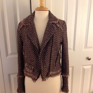Zara trf tweed moto jacket. Size M. Worn once.